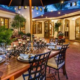 复古花园植物餐桌案例展示