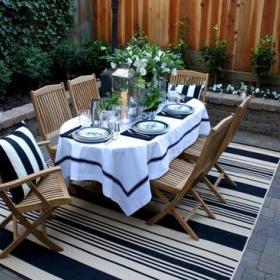 欧式精致餐桌椅餐桌布设计案例