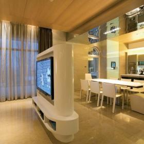 客厅餐厅电视墙装修案例