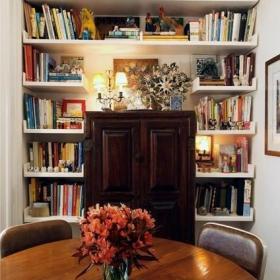 餐厅书柜案例展示