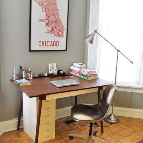书房办公椅椅墙面装修效果展示