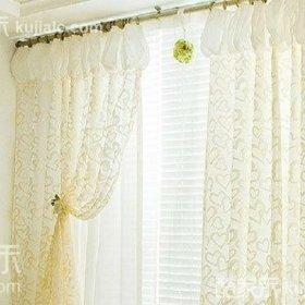 韩式清新简约时尚韩式风格窗帘布艺窗帘装修图