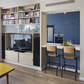 客厅厨房吧台隔断墙面设计案例展示