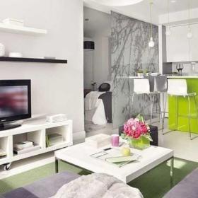 现代简约时尚客厅卧室隔断电视柜茶几案例展示
