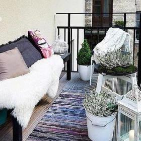 阳台沙发花架设计图