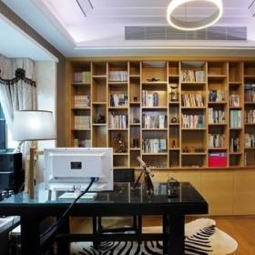中式书房收纳装修案例