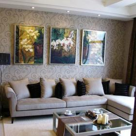 客厅背景墙装修案例