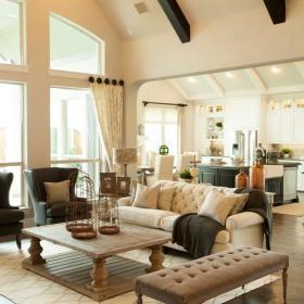 美式客厅吊顶装修图