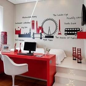 现代简约卧室墙面效果图