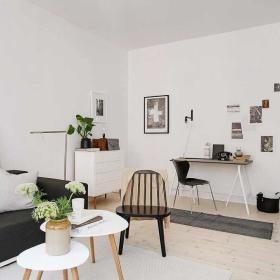 北欧客厅背景墙设计案例展示