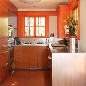 现代简约厨房收纳装修图