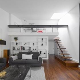 现代简约客厅收纳设计图