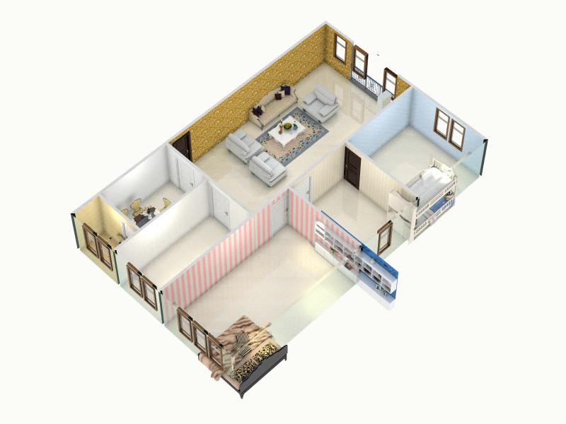 宝塔521a的家-俯视图