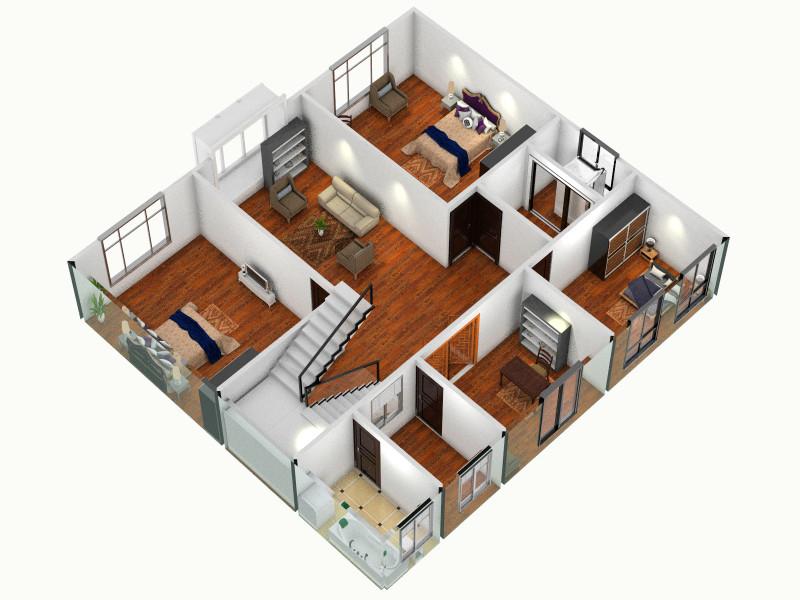 复制的方案(2)_三层连体别墅图片