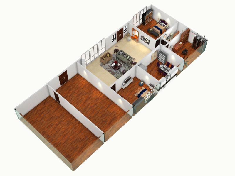 案 农用五间大瓦房客厅 室内 厨房 卫生间等装修效果图大全