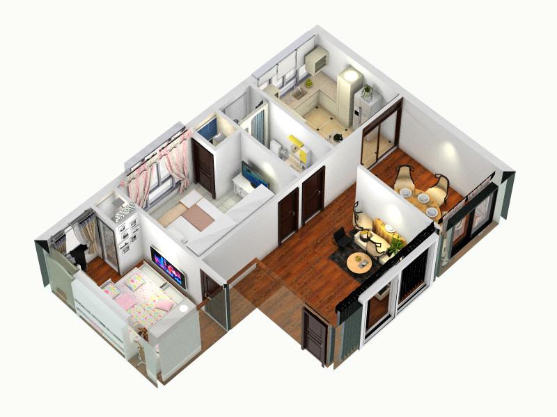 农村三间式平房接二楼设计改稿客厅 室内 厨房 卫生间等装修效果图大全