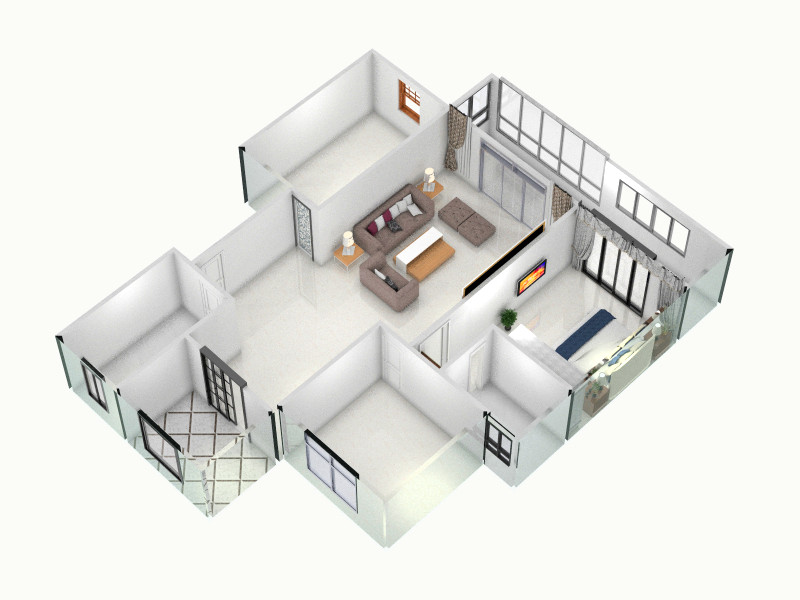 三室-俯视图