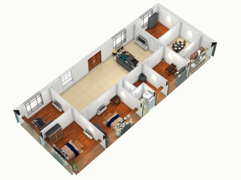 农村二层自建楼房客厅 室内 厨房 卫生间等装修效果图大全