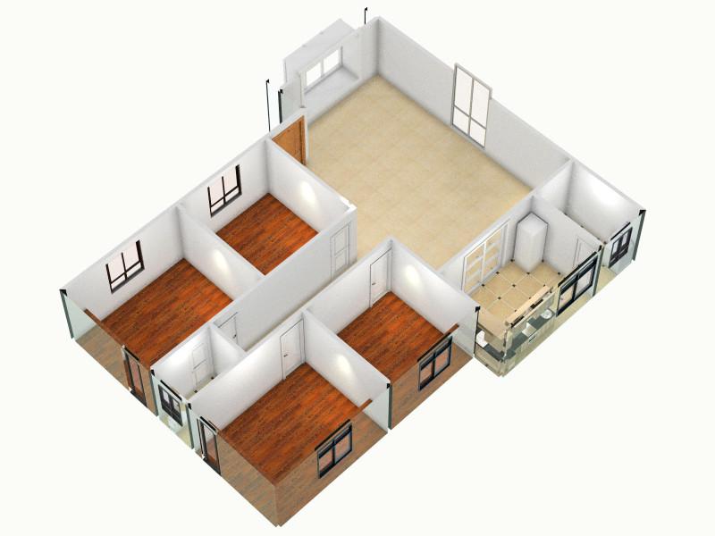平房厨房卫生间设计图展示