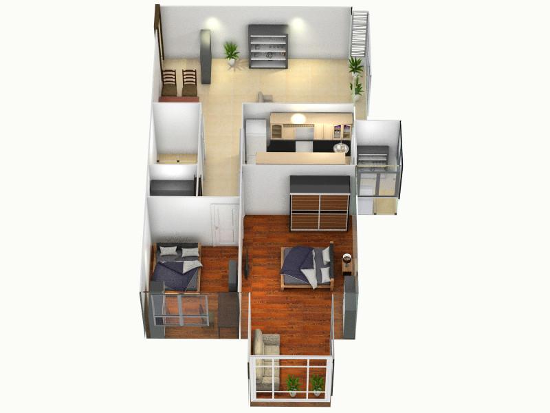 建业房屋三室两厅平面图_平面设计图