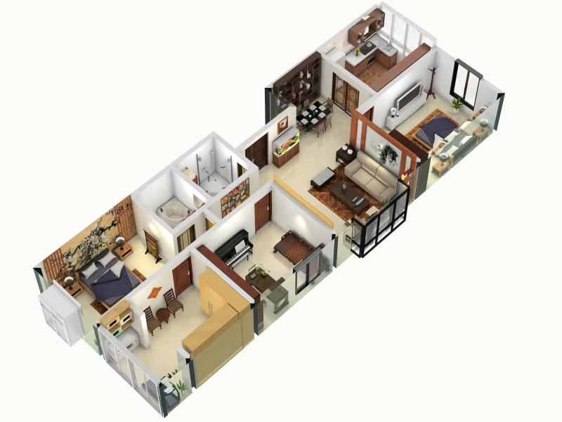最终确定客厅,室内,厨房,卫生间等装修效果图大全