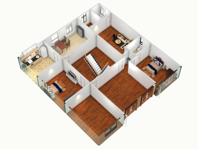 农村小二楼客厅 室内 厨房 卫生间等装修效果图大全