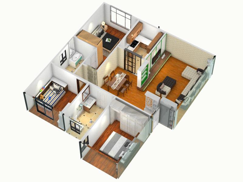 平面图客厅 室内 厨房 卫生间等装修效果图大全 -平面图高清图片