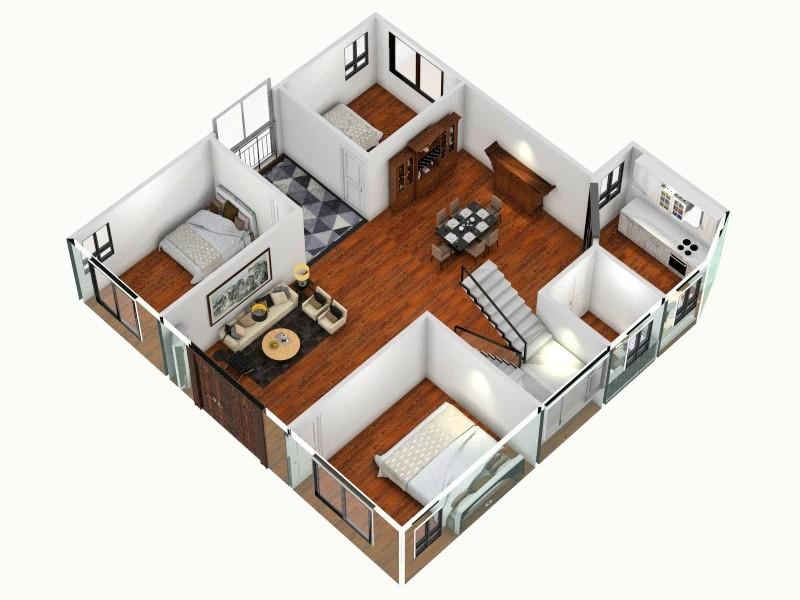 农村自建房-副本客厅,室内,厨房,卫生间等装修效果图