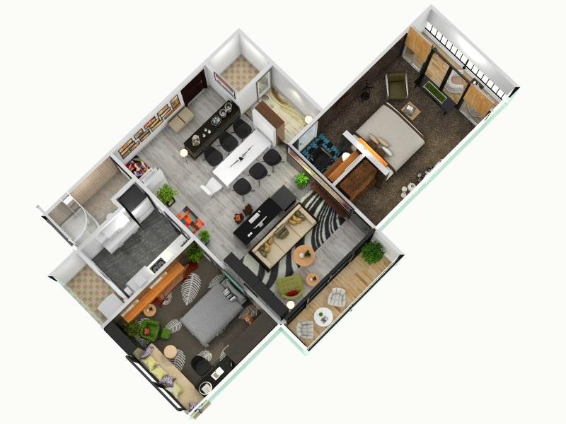 自家改造客厅,室内,厨房,卫生间等装修效果图大全