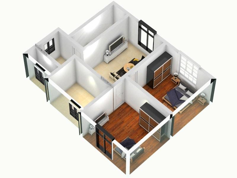 老房子装修-俯视图