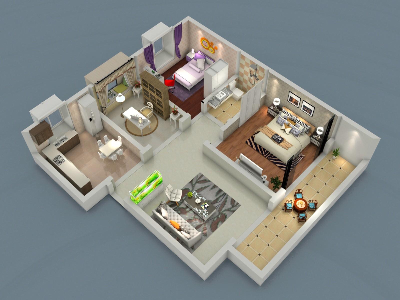 室内设计-俯视图