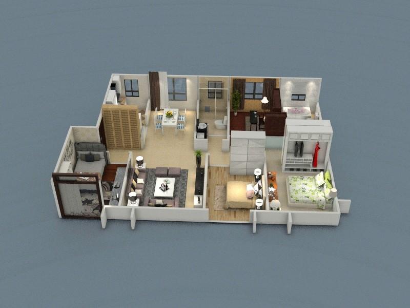 求一房屋结构平面设计图
