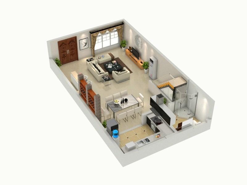小别墅-俯视图