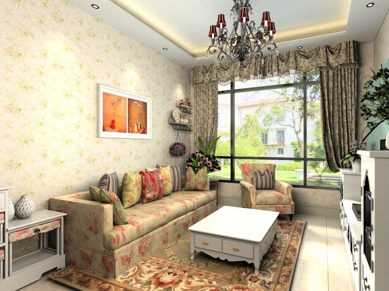 欧式田园风单身公寓设计图片