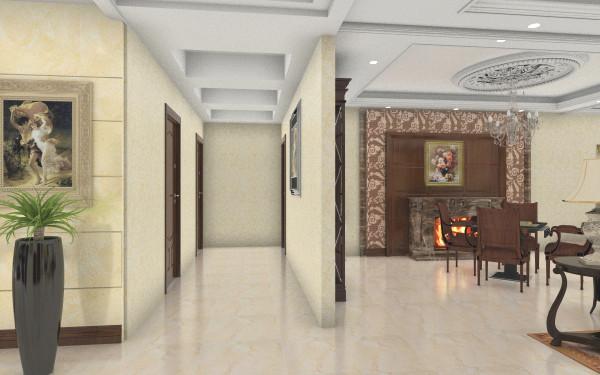 欧式客餐厅客厅,室内,厨房