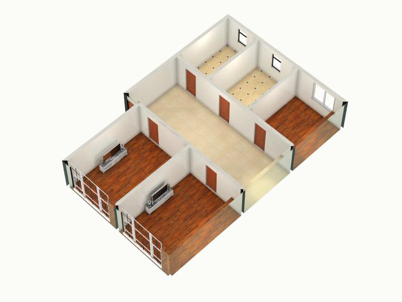 好房子-俯视图