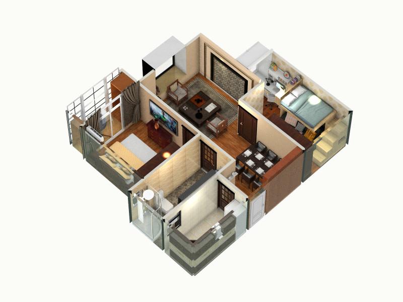 润城7号楼06户(燕南居)设计图  河南 郑州 盛世新天 更新于7个月前