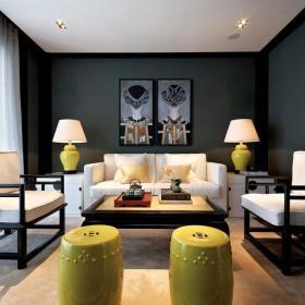 客厅沙发灯具装修效果展示