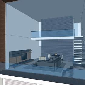 阳台效果图