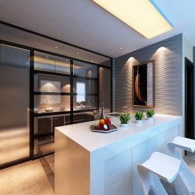 现代简约厨房吧台图片