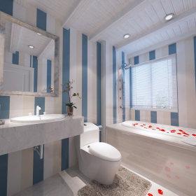 地中海卫生间浴室马桶装修案例