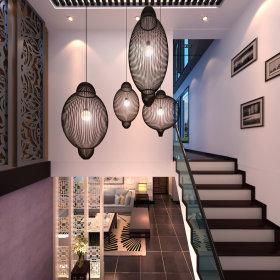 客厅楼梯灯具装修效果展示