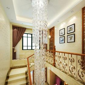 窗帘楼梯灯具装修效果展示