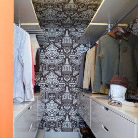 现代简约衣帽间壁纸案例展示