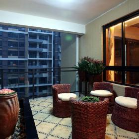 东南亚阳台装修案例