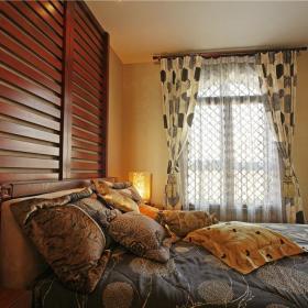 东南亚卧室效果图