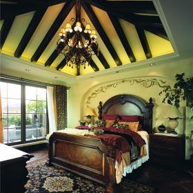美式卧室效果图