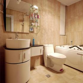 现代简约卫生间浴室淋浴房装修图