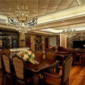 欧式客厅餐厅设计案例