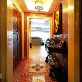 中式玄关玄关柜效果图